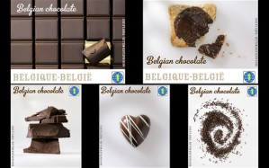 Belgian chocolate stamps