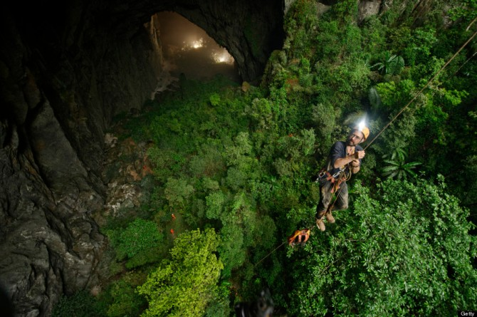 A jungle grows inside Hang Son Doong.