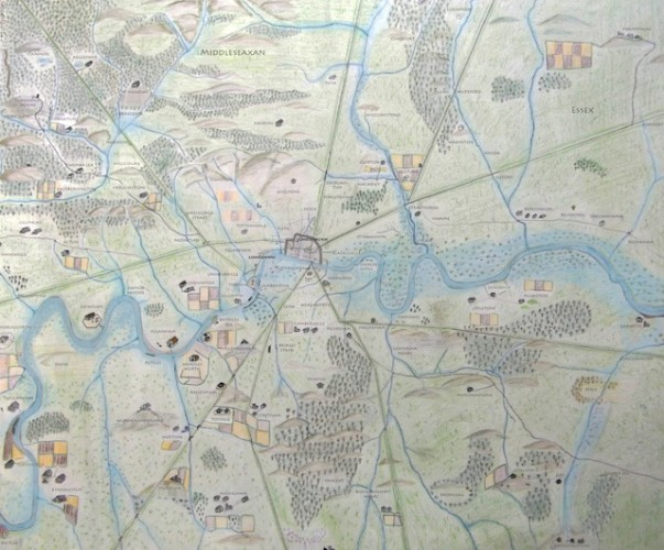 Anglo Saxon London Map