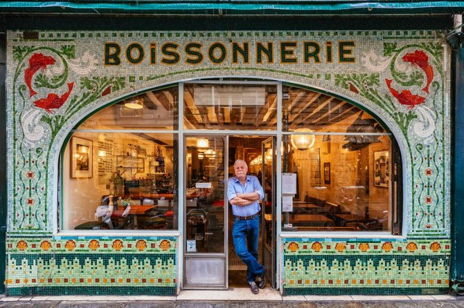 "La Boissonnerie In 1905, this fish and wine restaurant was a fishmonger (poissonnerie). When Drew Harré (pictured) and business partner Juan Sánchez bought it they changed the ""p"" to a ""b""."