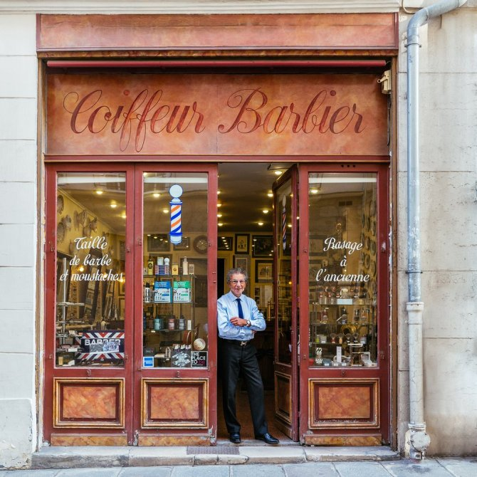 Alain Maître Barbier Listed as an Unusual Museum of Paris, Alain's barber shop is filled with shaving-related objects from around the world. Alain has worked here for 20 years and gives each person who buys a razor a 'shaving lesson'.