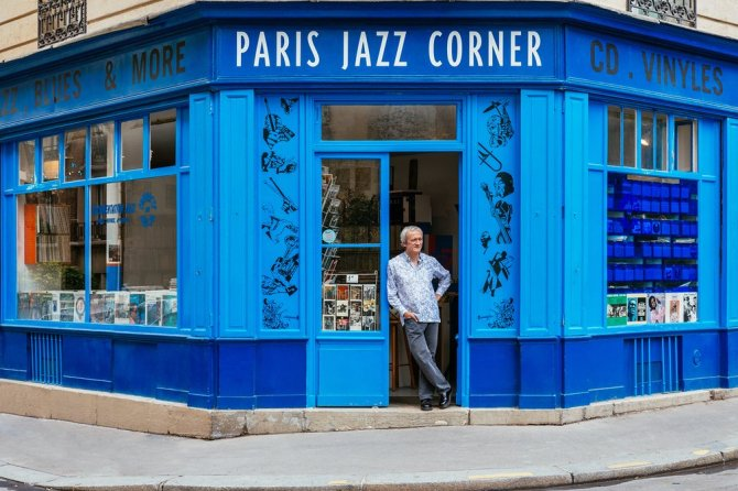 Paris Jazz Corner Located on the city's Left Bank, the jazz music shop co-founded by Maxime Hubert sells a wide selection of LPs, CDs, books and flyers, making it a favourite with the city's jazz community.